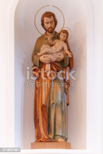 Wooden statue of St. Joseph.