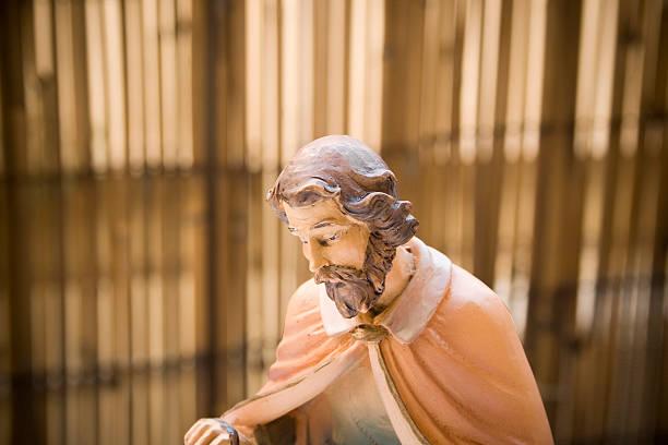 St. Joseph statue close up stock photo