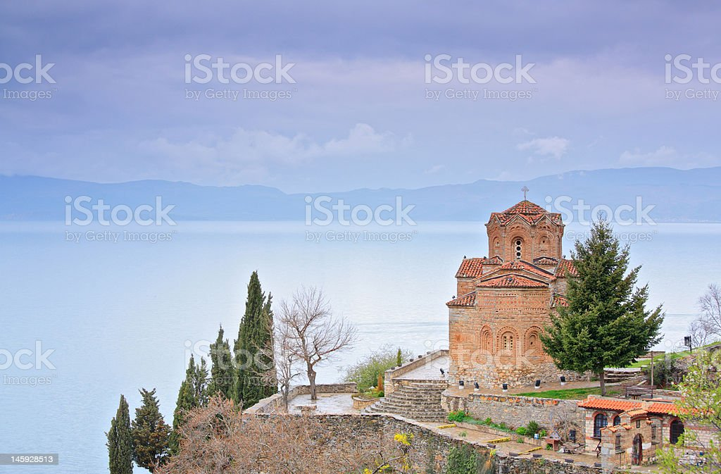 St. Kaneo church in Ohrid royalty-free stock photo
