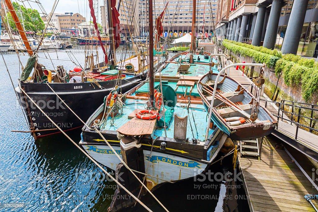 St. Katharine Docks in London, UK stock photo