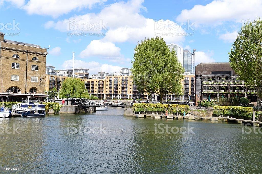 St. Katharine Docks, London stock photo