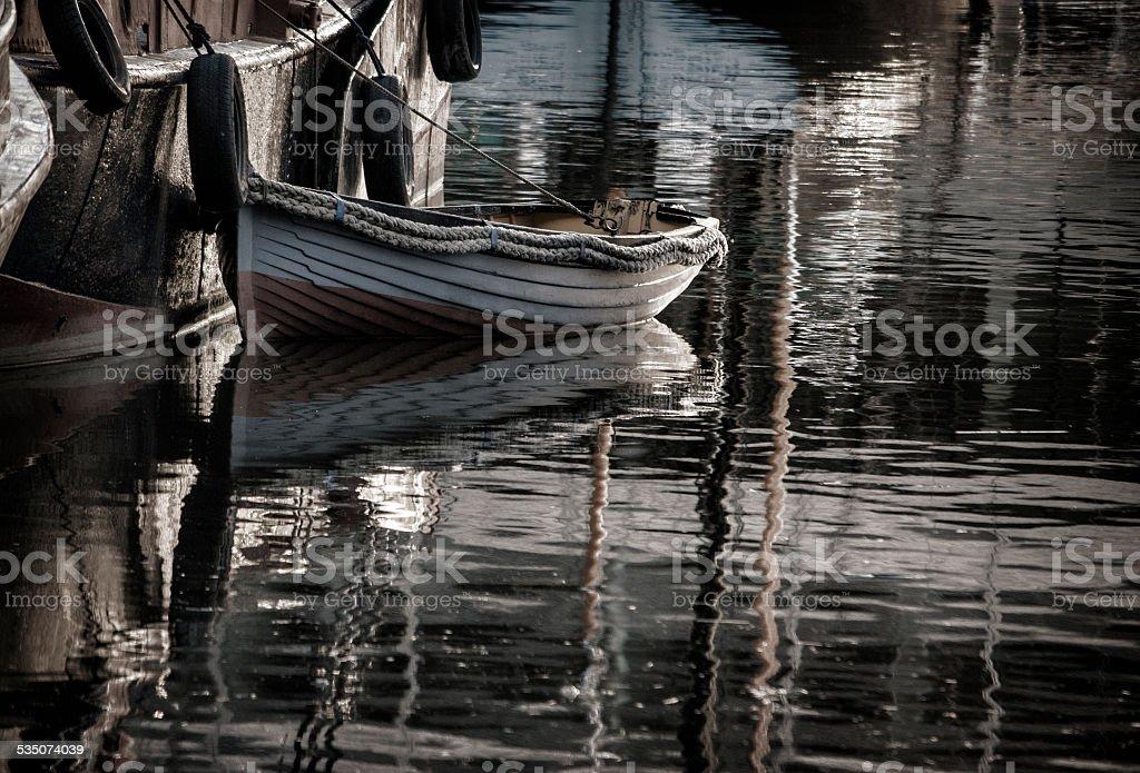 St Katharine Docks, London, UK stock photo