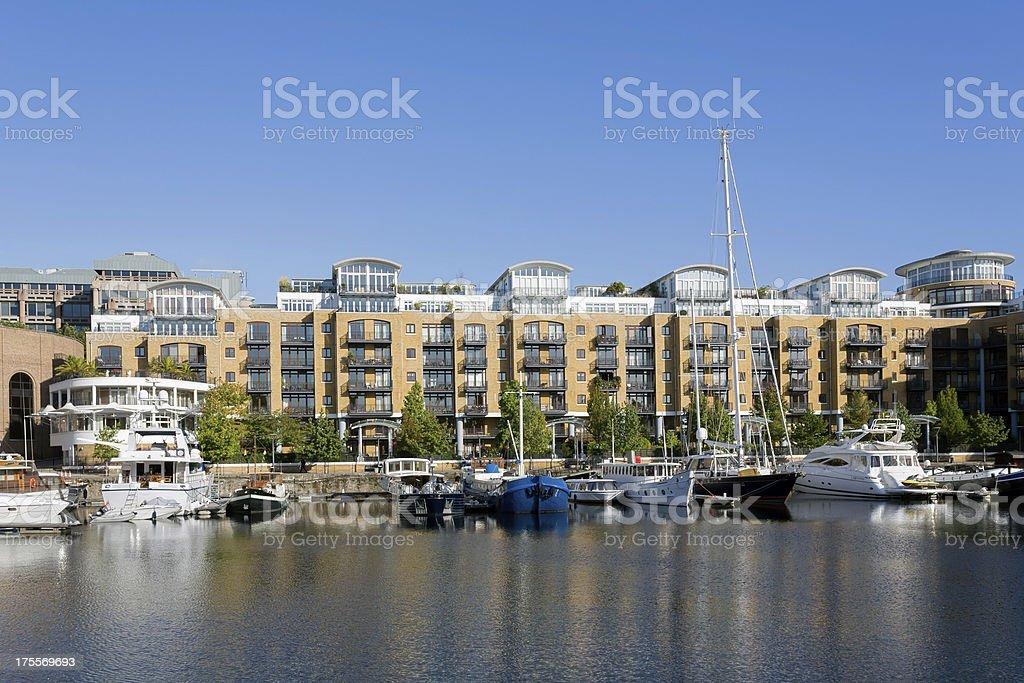 St Katharine Docks royalty-free stock photo