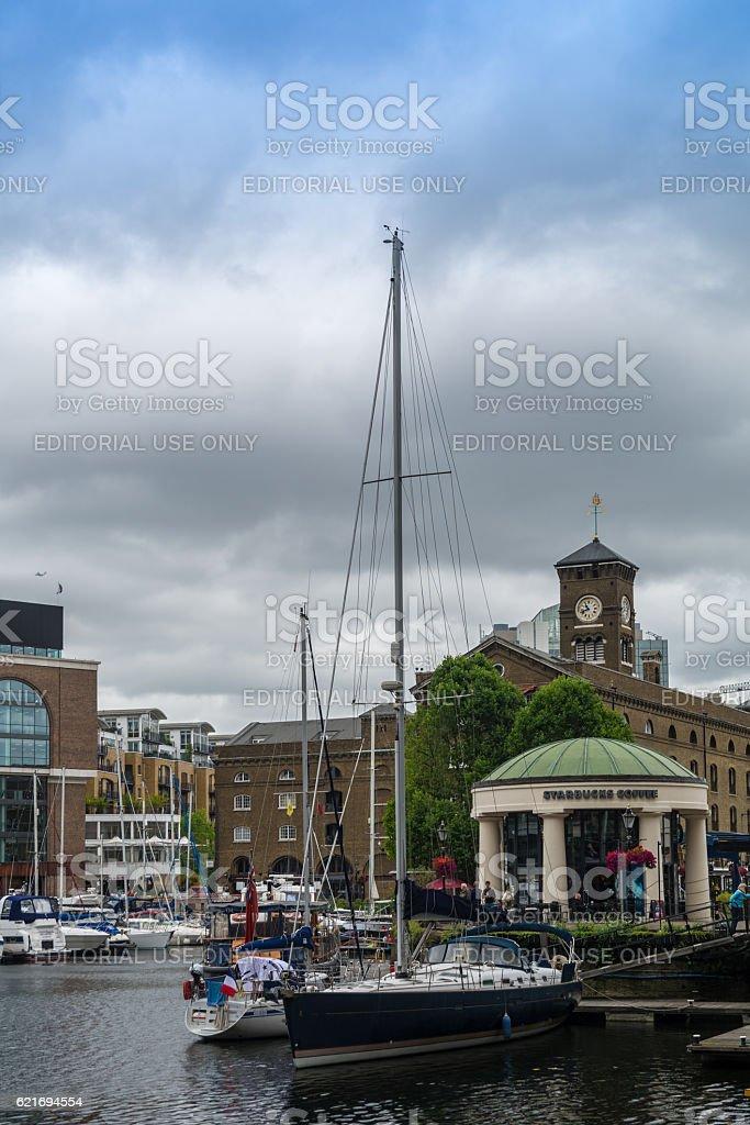 St Katharine's docks stock photo