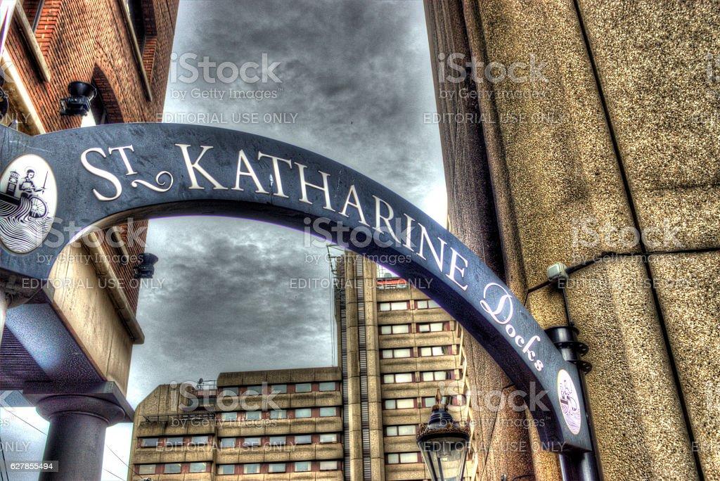 St Katherine docks London stock photo