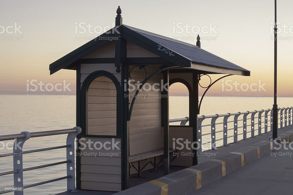 St Kilda Pier cabin royalty-free stock photo
