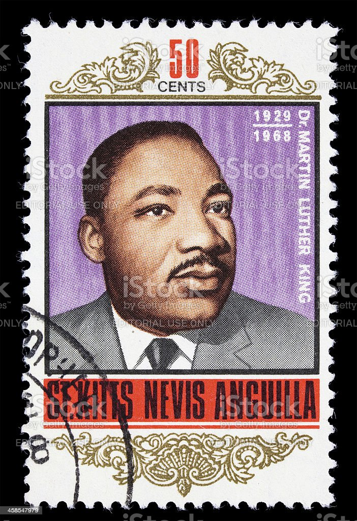 St. Kitts Martin Luther King Jr postage stamp stock photo