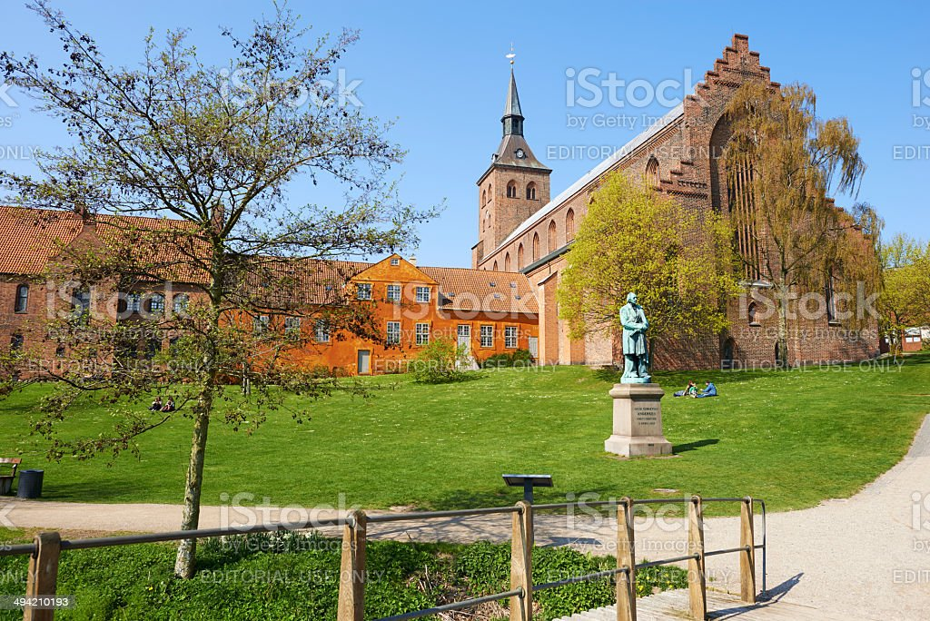 St. Knud's Cathedral From The Garden Of Fairy Tales royalty-free stock photo