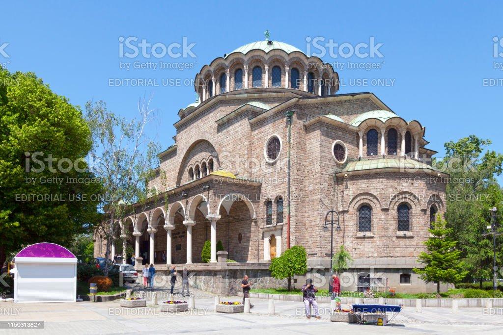 St. Kyriaki Cathedral Church in Sofia stock photo