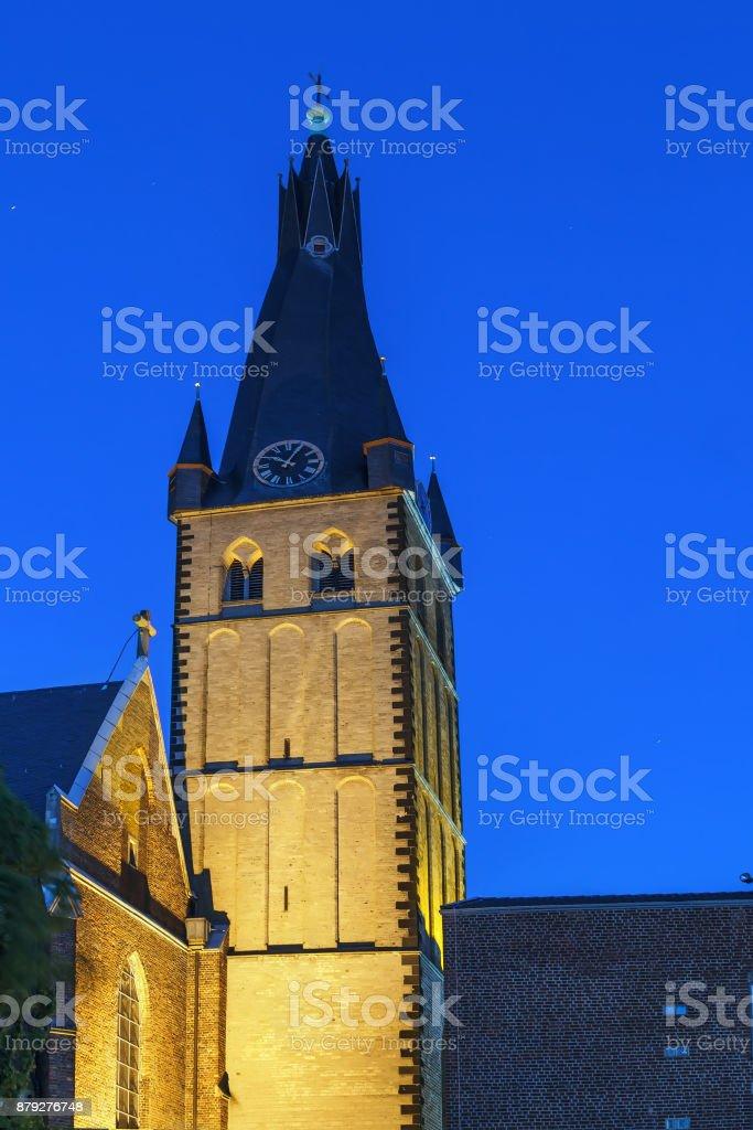 St Lambertus Basilica, Dusseldorf, Germany stock photo