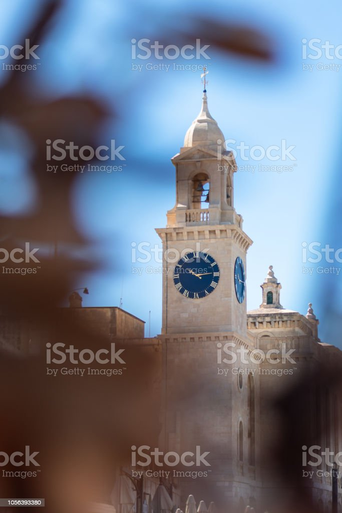 St. Lawrence Church Clock stock photo