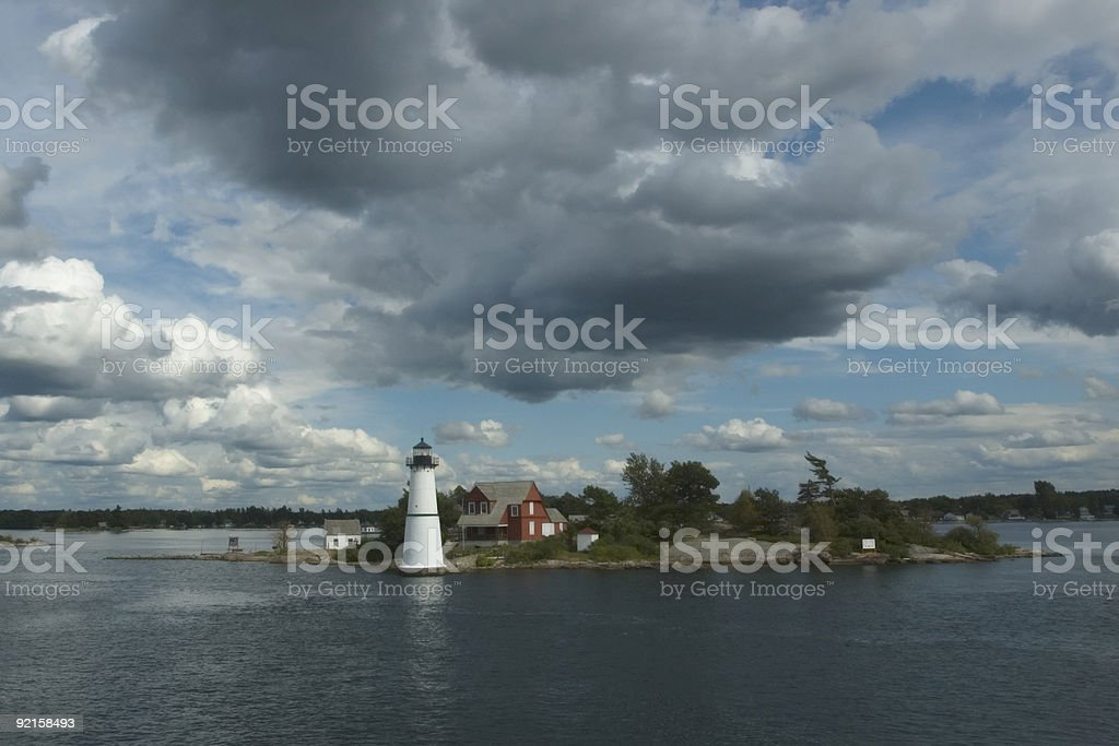 St. Lawrence Lighthouse royalty-free stock photo