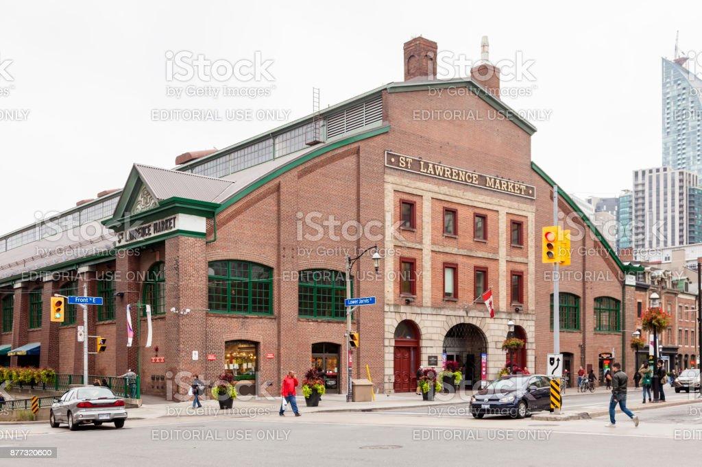 St. Lawrence Market in Toronto Lizenzfreies stock-foto
