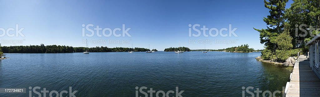 St. Lawrence River Near Gananoque, Ontario royalty-free stock photo