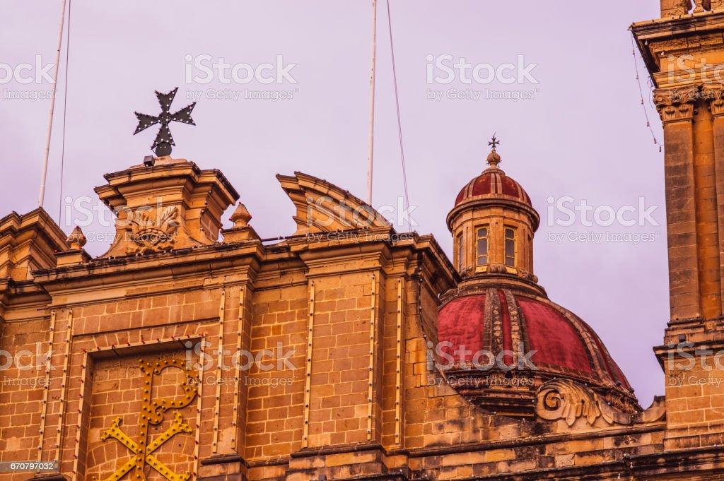 St. Lawrence's Church in Il-Birgu stock photo