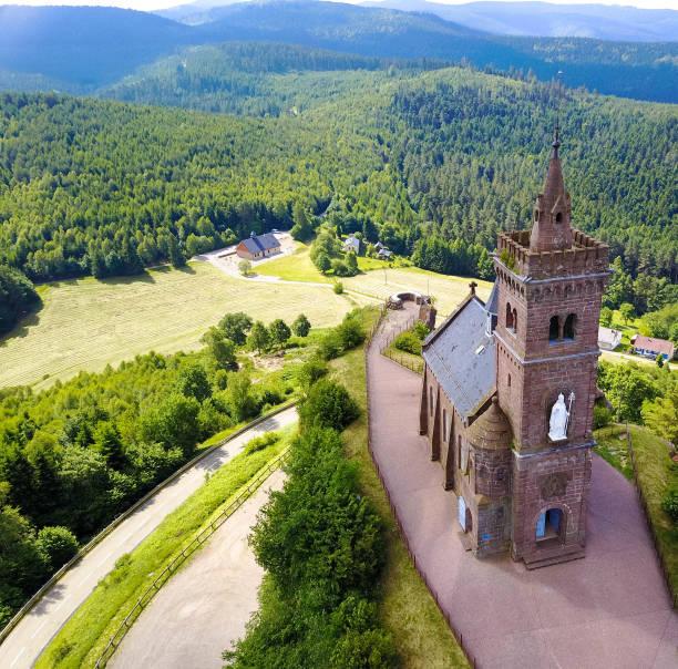 St. Leon chapel, Dabo Alsace stock photo