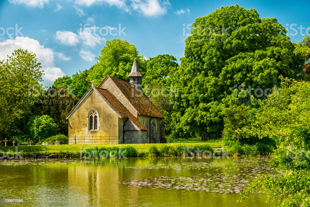 St Leonards Church Hartley Mauditt Hampshire England stock photo