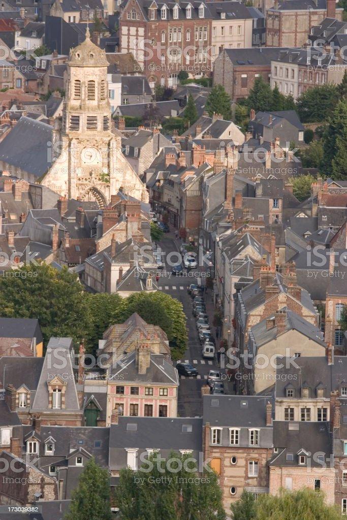 St Leonards Church Honfleur stock photo