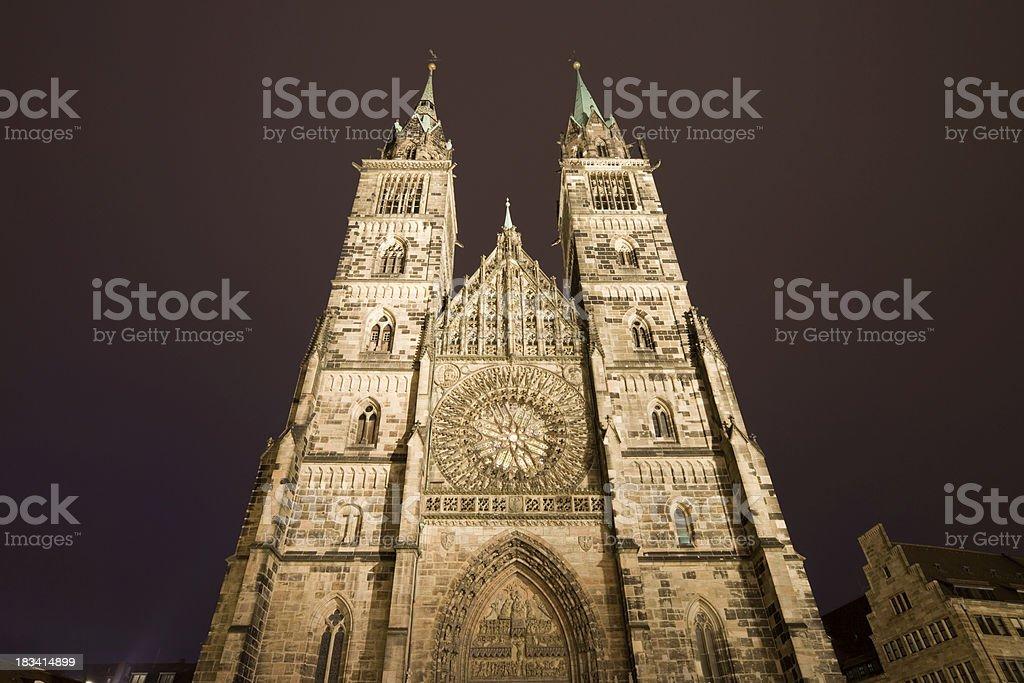 St. Lorenz Church, Nuremberg, Germany royalty-free stock photo