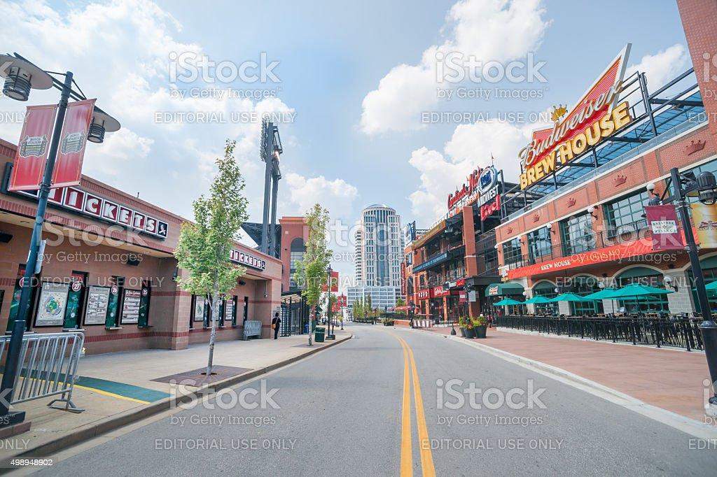 St Louis, architecture, Ballpark Village Missouri,USA. stock photo