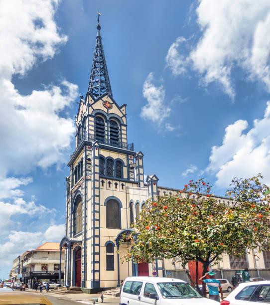 St. Louis Cathedral nach Renovierungsarbeiten, Fort-de-France, Martinique – Foto