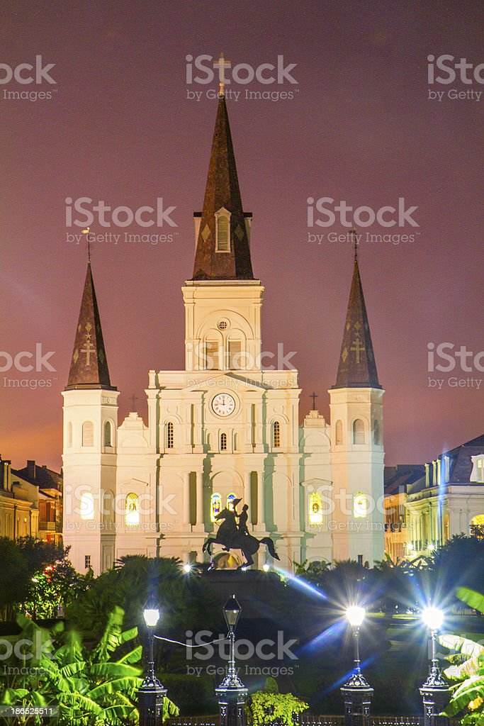 St. Louis Cathedral at dusk royalty-free stock photo