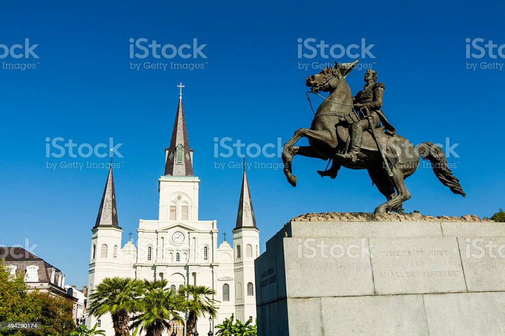 St. Louis Cathedral from Jackson Square stock photo
