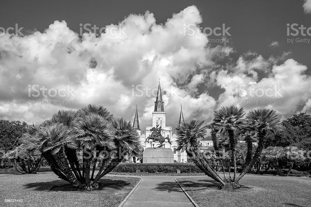 St. Louis Cathedral in the French Quarter, New Orleans, Louisian foto royalty-free