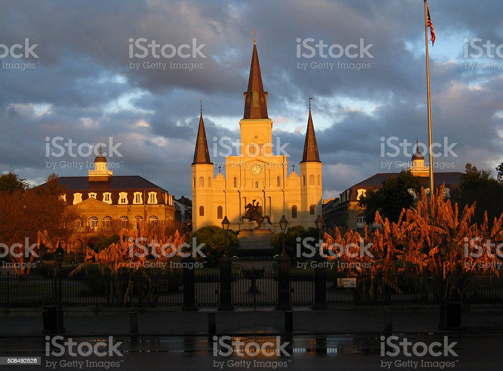 St. Louis Cathedral, New Orleans, LA stock photo