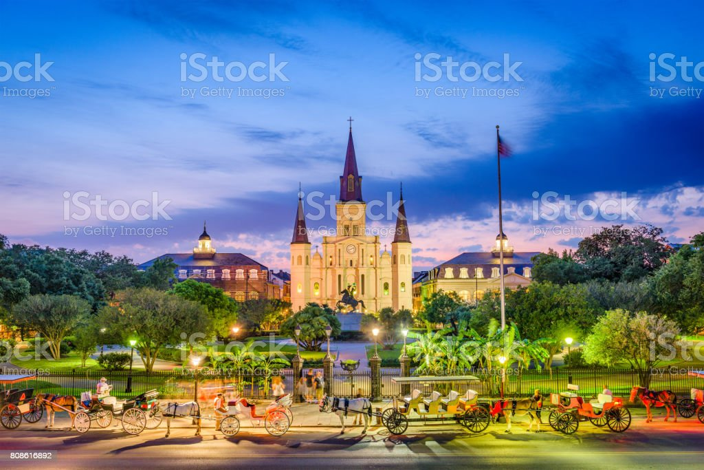 St. Louis Cathedral New Orleans stock photo