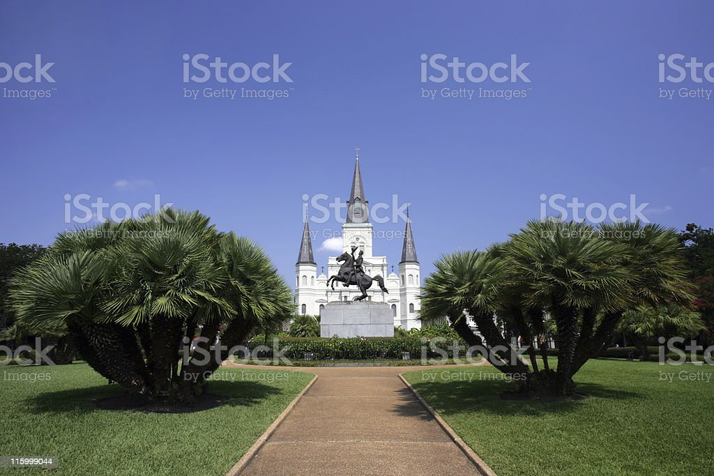 St. Louis Cathedral-Horizontal stock photo