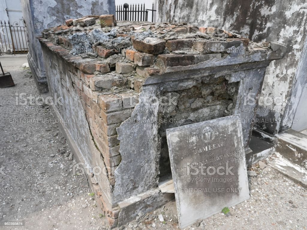 St. Louis  Cemetery No. 1 in New Orleans stock photo