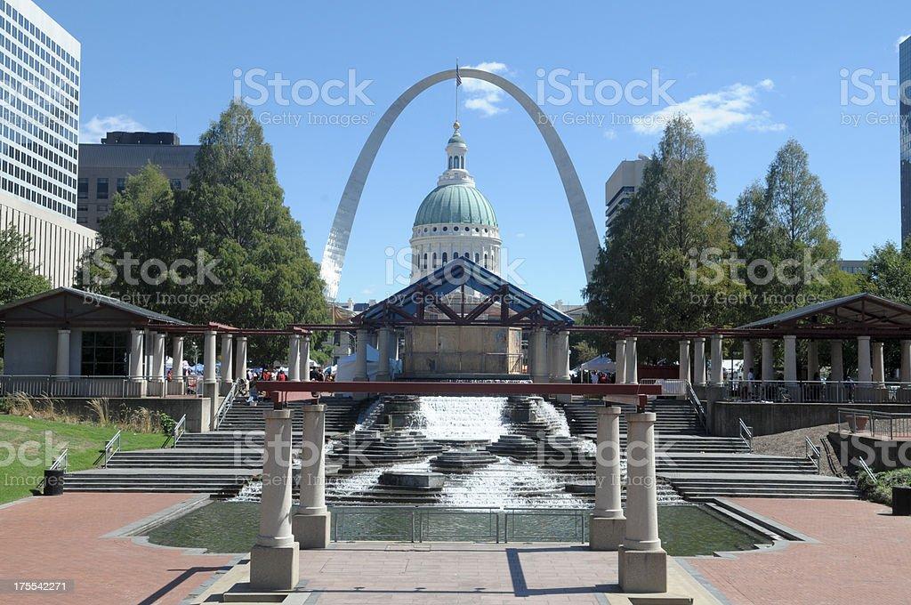 St. Louis City Center stock photo