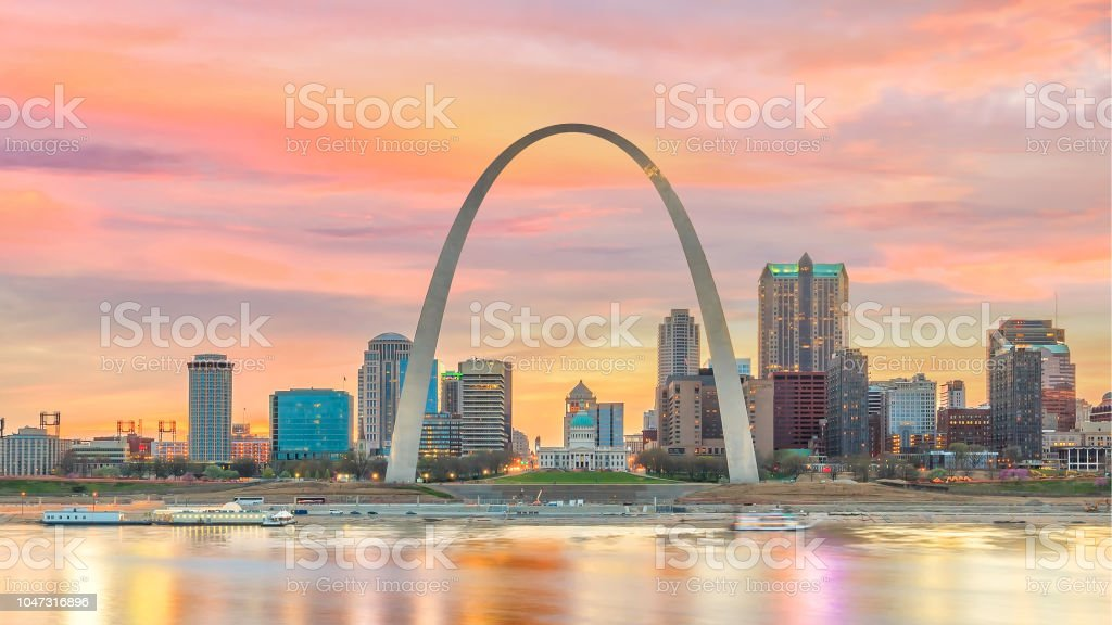 St. Louis downtown city skyline stock photo