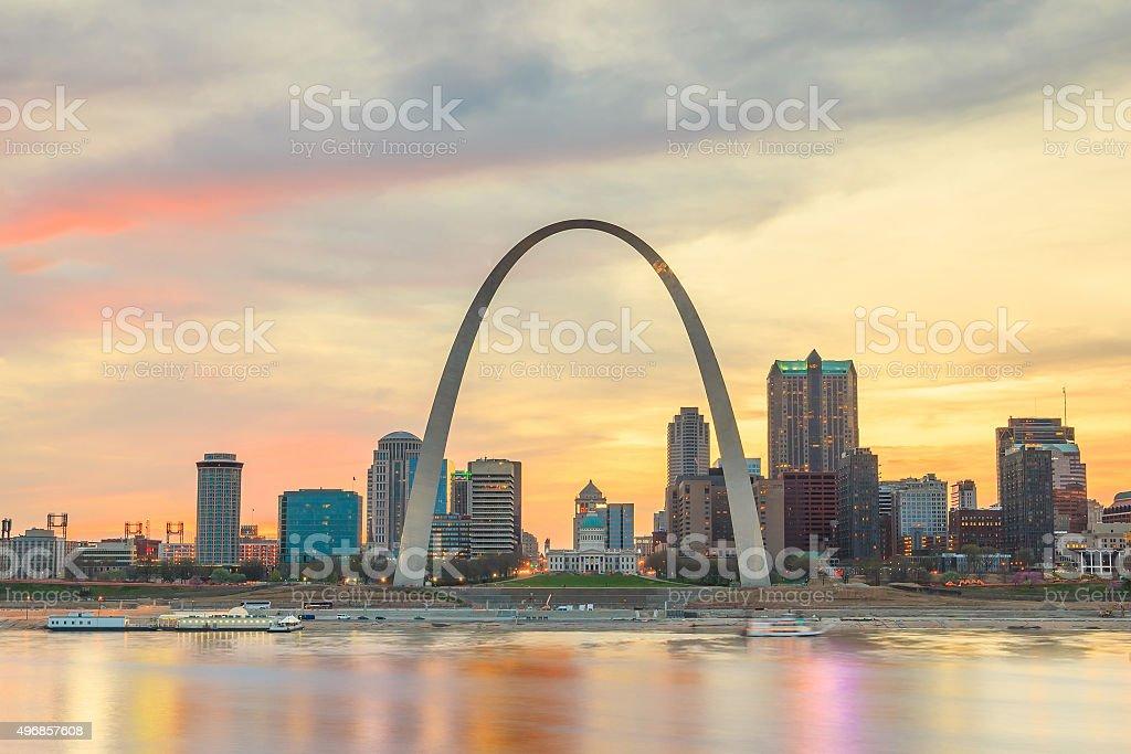 St. Louis downtown stock photo