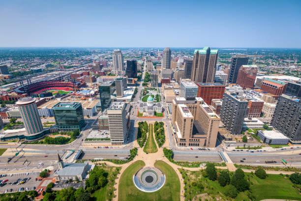 聖路易斯,密蘇里州,美國市中心天際線 - st louis 個照片及圖片檔