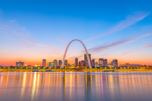 St Louis Missouri Usa Skyline Stock Photo - Download Image Now