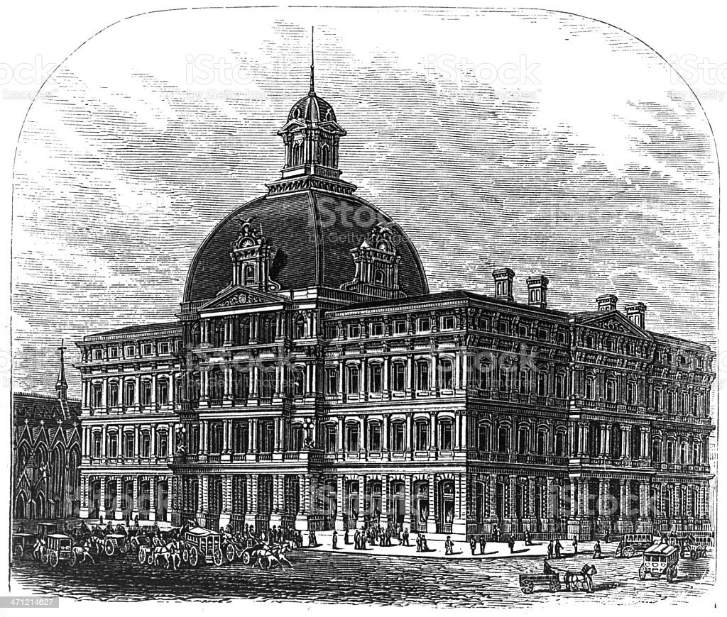 St. Louis Post office and custom house stock photo