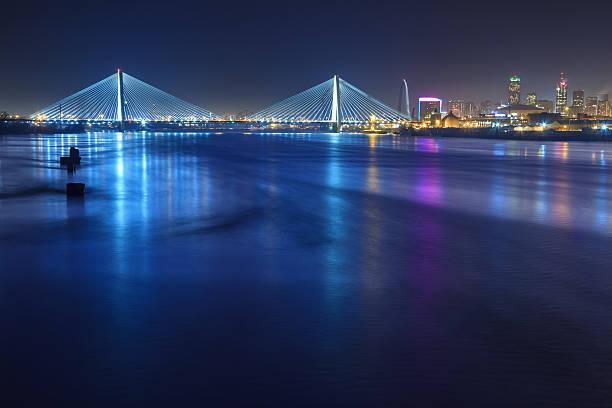 st. louis skyline with bridges - st louis 個照片及圖片檔