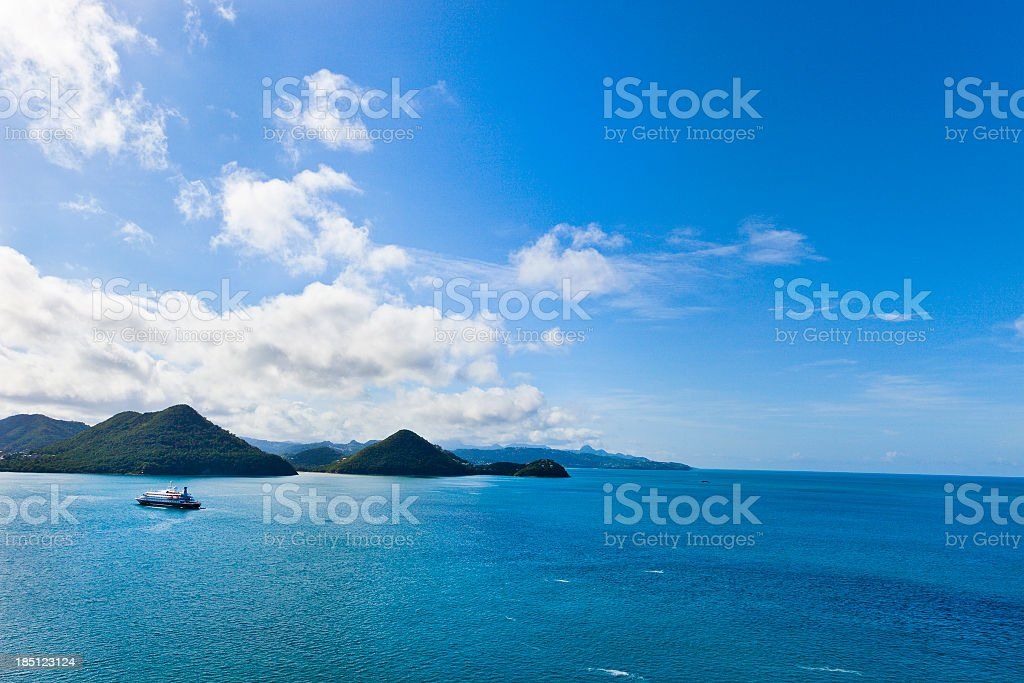 St. Lucia Overview royalty-free stock photo