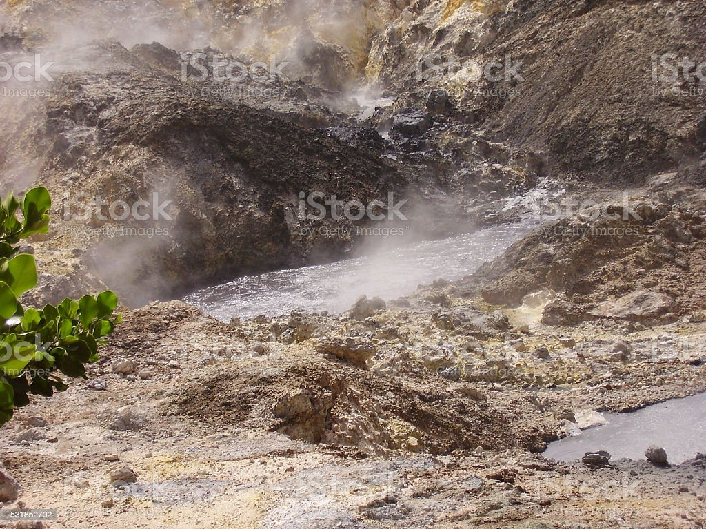 St. Lucia Piton Volcanic Activity stock photo