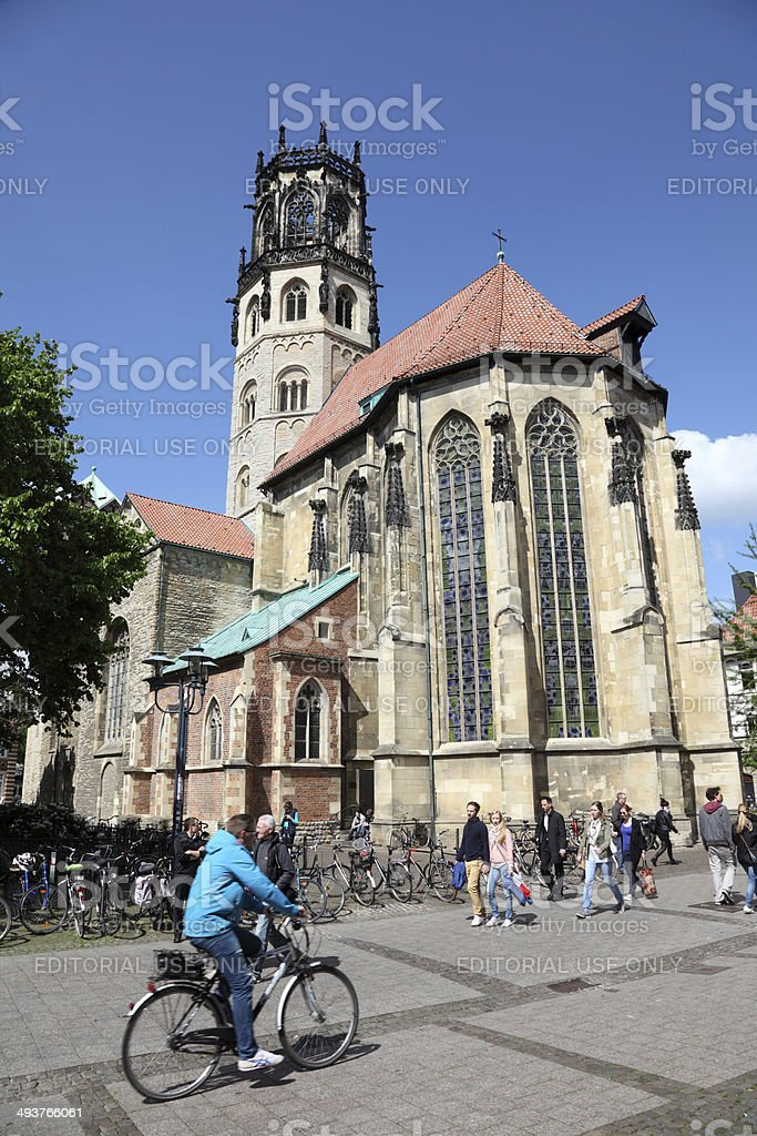 St. Ludgeri church in Munster, Germany stock photo