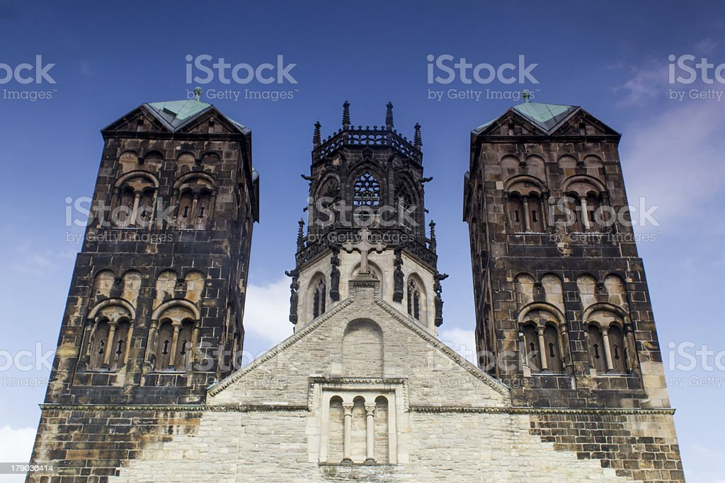 St. Ludgeri church Muenster Germany stock photo