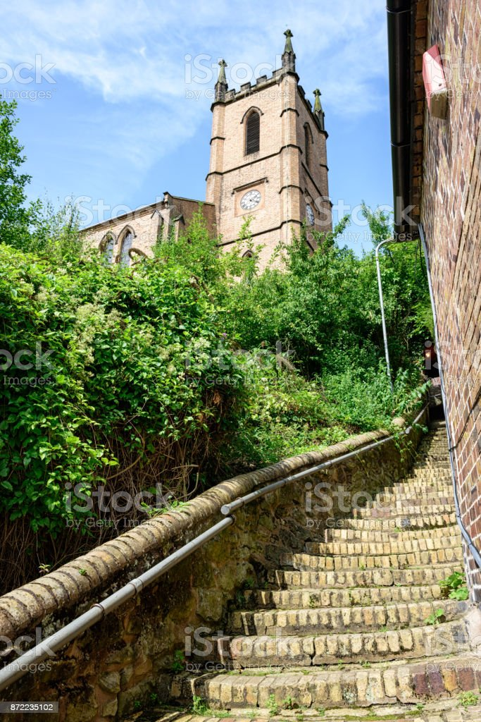 St. Lukes Church, Ironbridge, Shropshire, England stock photo