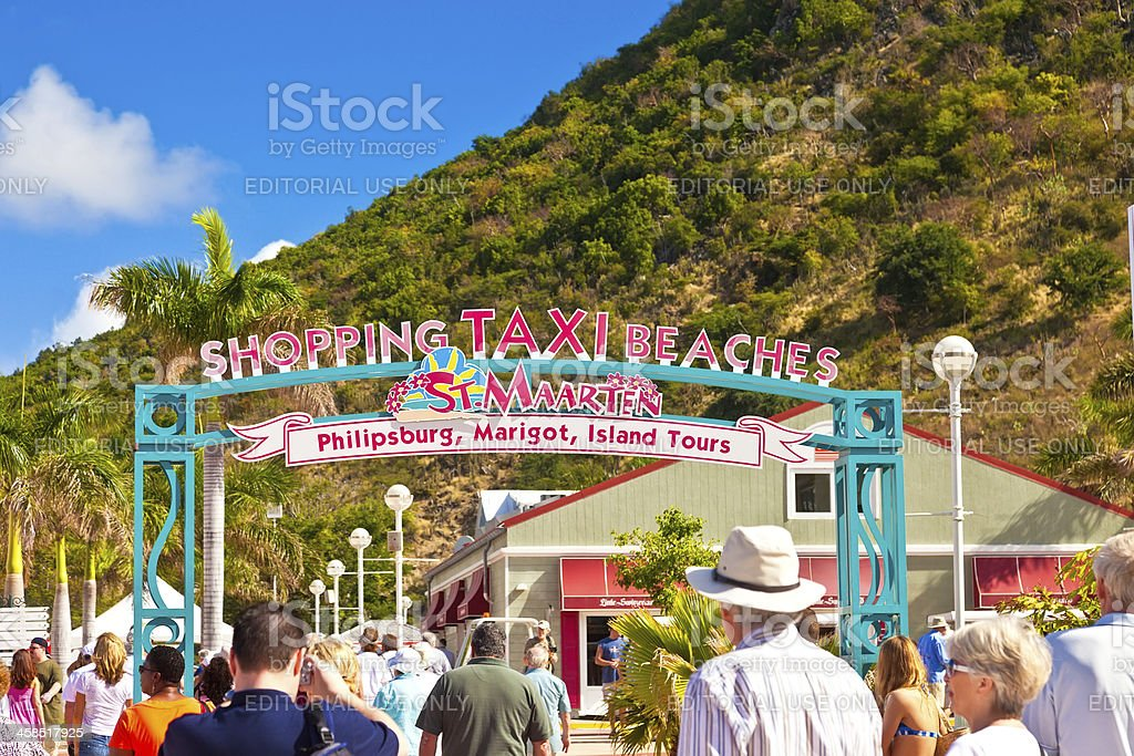 St. Maarten Welcome Sign royalty-free stock photo