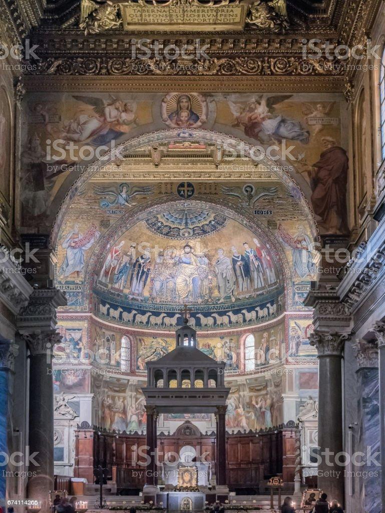 St Maria Basilica in Trastevere, Rome 免版稅 stock photo