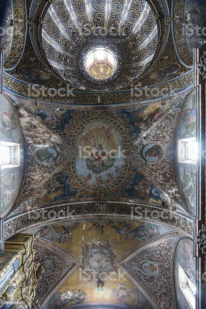 St. Maria Church in Los Arcos, Navarre. Spain. stock photo