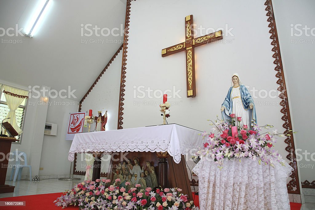 St. Maria statue decoration royalty-free stock photo