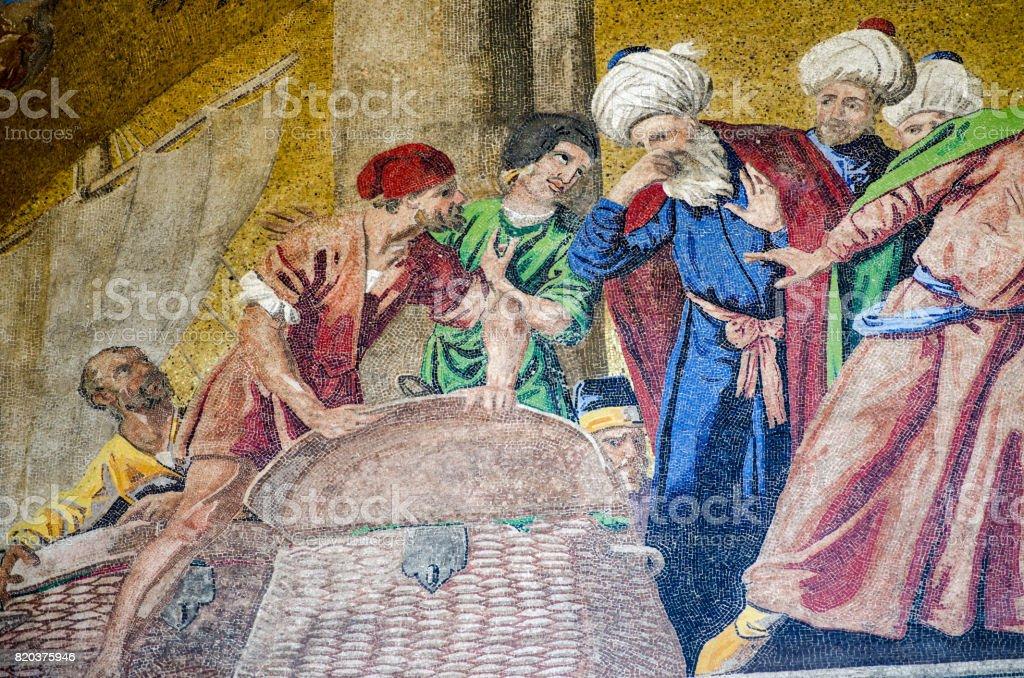Mosaico de St Mark Relics, Veneza - foto de acervo