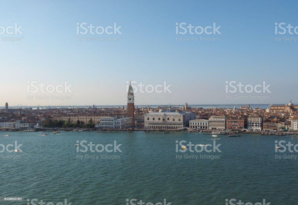 St Mark square in Venice stock photo